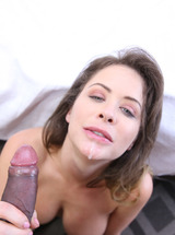 Emily Addison Enjoys Gooey Load Of Cum In Her Eager Mouth